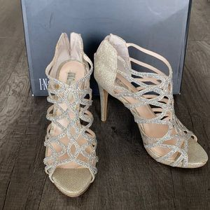 INC| Sharee2Gold Champagne Sandals Heels size 7M